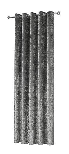 Luxus Dick Crushed Velvet Silber Ring Vorhänge 90 X 90 & 2 X 18 Gefüllt Kissen -