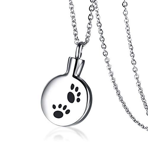 BRG315 Feuerbestattung Schmuck Urne Halskette, Parfüm Flasche Anhänger, Für Asche Andenken Denkmal Urne Anhänger, in Erinnerung An Haustier Katze Hund -