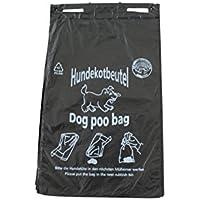 1000 Hundekotbeutel Hundetüten Gassibeutel biologisch abbaubar selbstzersetzend Farbe schwarz bedruckt weiß Hundekottüten abreissbar 20 x 32 cm gelocht