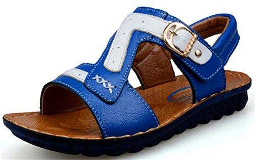 DADAWEN Sandales Bout Ouvert Garçon Bleu