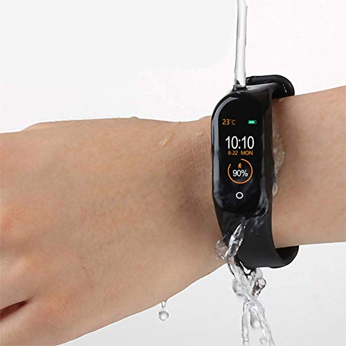 Imagen de reloj inteligente de ango, pulsera de actividad deportiva, frecuencia cardíaca, tensiómetro de la tensión arterial, pulsera de salud para mujeres y hombres, m4 alternativa