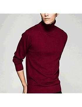 Maglie maniche lunghe DZYZ Maglione maglione invernale invernale degli uomini Maglia sottile maglietta maglione...