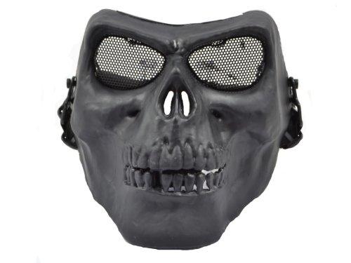 Softair Totenschädel Schutz Maske (schwarz)