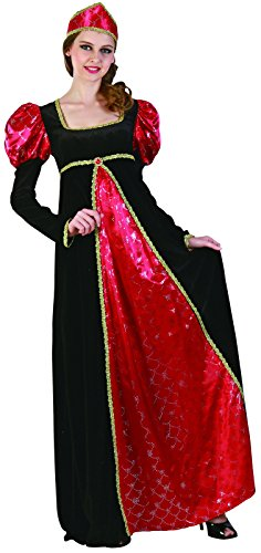 Reír Y Confeti - Fiamou018 - Para Disfraces para Adultos - Queen Costume Deluxe - Mujer - Talla S