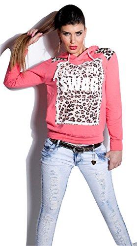 """SEXY KAPUZENPULLOVER """"SWAG"""" I AM SORRY UK 8/10), EU 36/38 (DE). Rosa - Pink"""