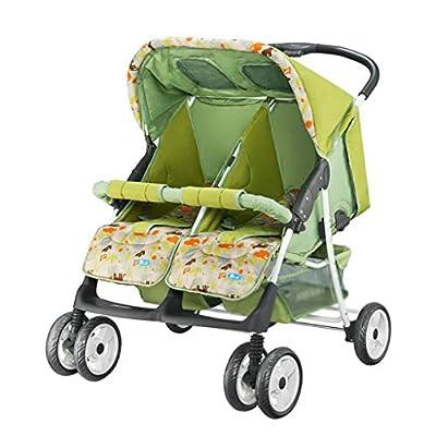 Twin Baby Trolley Can Plegable Doble Gemelos Cochecito de Bebé Paraguas Portátil Cochecito Múltiple Puede Sentarse Plano Recostado Bebé Viajar