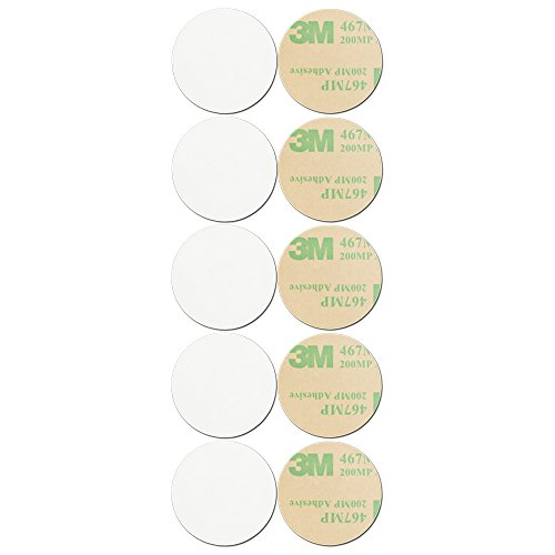 GoToTags Blanko, weiß on-Metal | NFC Tag-Aufkleber-NTAG216|-Kreis-30mm, 10Stück
