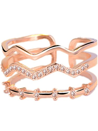 Summens Damen Schmuck 925 Sterling Silber Diamant Verstellbar Partnerringe Ring Eheringe Trauringe Verlobung Ringe (Herren Silber Ringe Diamant-hochzeit)