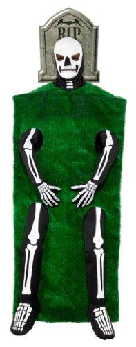 Grabkostüm Kostüm Grab Skelett Tod Skelettkostüm Friedhof Grabstein Grabsteinkostüm für Halloween Halloweenkostüm für Herren Gr. M / 48 - 50