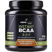 Instant BCAA Pulver - XXL Dose - Aminosäuren mit leckerem Eistee Pfirsich Geschmack - 500g - vegane Aminos - Leucin... preisvergleich bei fajdalomcsillapitas.eu