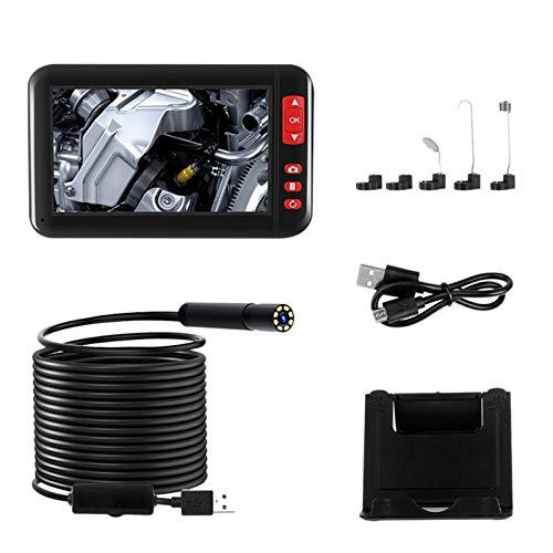 TOOGOO 4,3 in Endoskopie Kamera 1080P HD Farbe Display 8 Mm Endoskop Kamera IP67 Wasserdicht 8 Einstellbare LED Halb-Starr Schlangen Kabel - (2 M)
