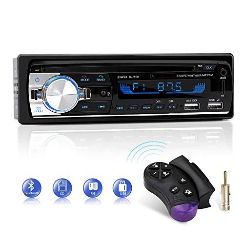 Radio para Coche, CENXINY Autoradio Bluetooth Llamadas Manos Libres Control Remoto Radio FM 4x65W Estéreo de Coche con Reproductor de MP3 USB y Bluetooth 4.2, Soporte iOS y teléfono Android