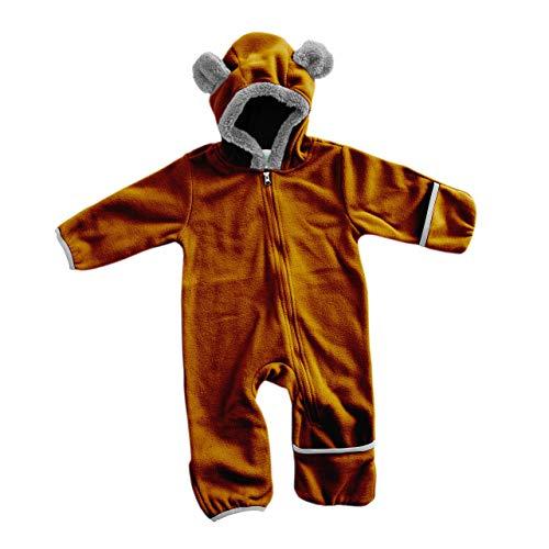 Funzies giacca leggera in pile - capispalla pigiama invernale per bambino orso bruno 18-24 meses