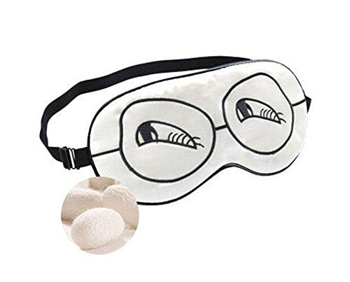 Confortable Double soie cache oeil/cache oeil pour dormir, Blanc