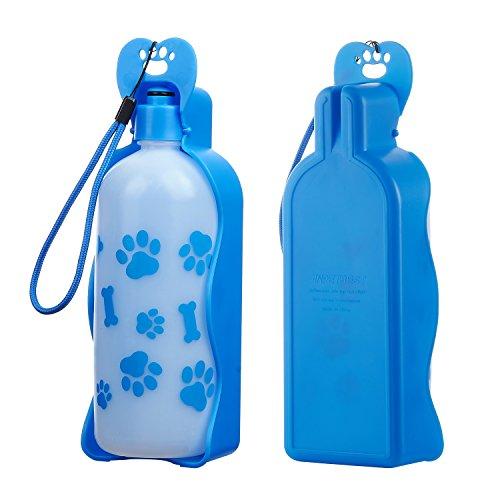 Anpetbest Pet Botella de agua para perros al aire libre, taza de...