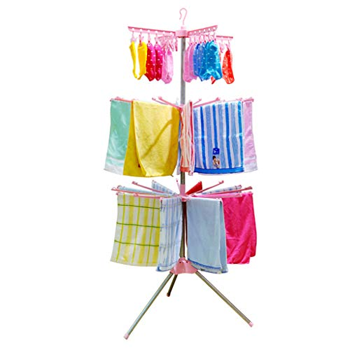 Hjd-Trockengestell Wäscheständer-Boden-Baby-Windel-Handtuchhalter (Color : B)