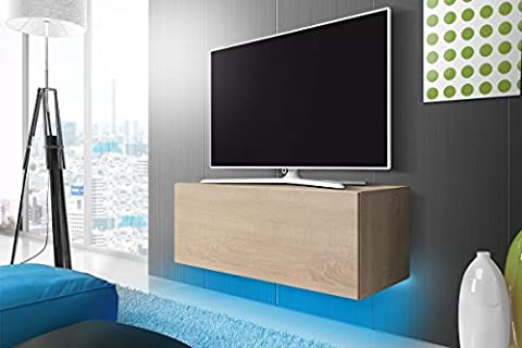 Meuble TV Lana (Sonoma) /LED, 100 cm