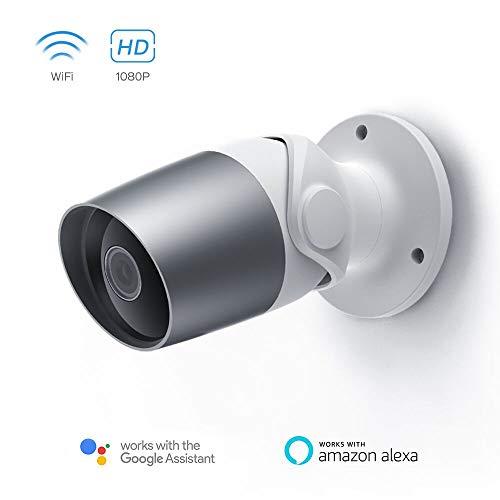 Panamalar Outdoor Kamera, WLAN 1080P Aussen Überwachungskamera Wasserdicht unterstützt Sprachsteuerung mit Alexa/Bewegungserkennung/ 2 Weg Audio/Nachtsicht Wireless IP Außenkamera steuren von Handy