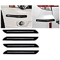 BUY HAPPYAMMY SHOP Rubber Car Bumper Protector Guard with Single Chrome Strip (Big) for Car 4Pcs - Black (for All car)