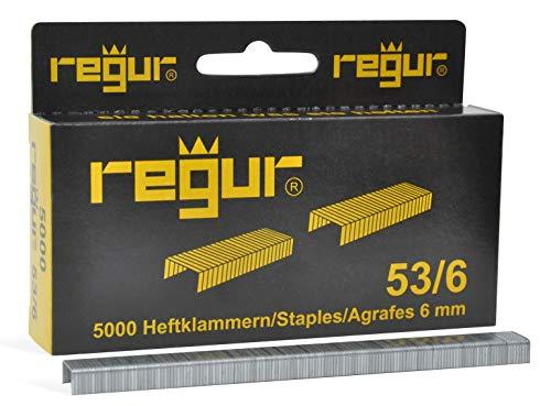 REGUR 53 Heftklammer 53/6 mm 5.000 Stück (Heftklammern Für Polster)
