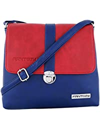 Fantosy Women Red And Blue Lock Slingbag Fnsb-176