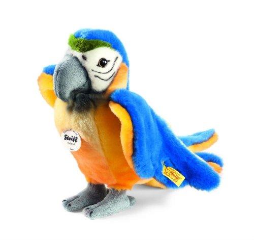 Steiff 063879 - Lori Papagei 26 cm stehend, blau/gelb -