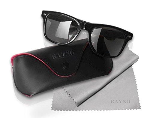 2 RAYNO NERD Sonnenbrillensets im Wayfarer Stil für Sie&Ihn im Doppelpack!