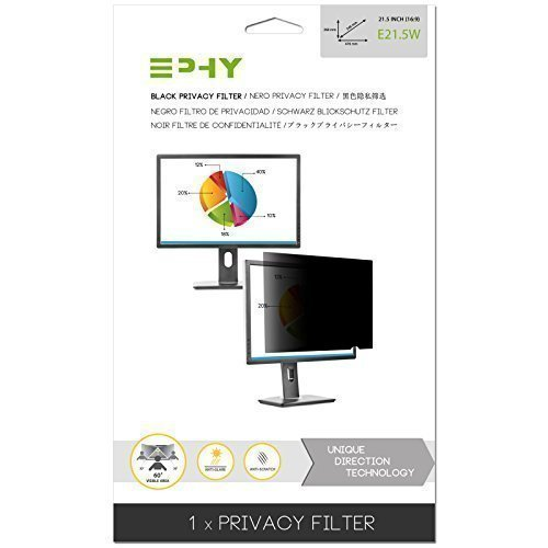 EPHY E21.5W Privacy filtration tv screen Protector along with Anti-Glare for Laptop TFT Desktop PC LC LED tv screen - (21.5
