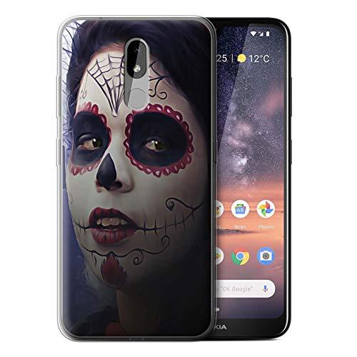 eSwish Gel TPU Hülle/Case für Nokia 3.2 2019 / Halloween Bilden Muster/Tag Der Toten Festival Kollektion (Halloween-2019 Tag Toten Der)