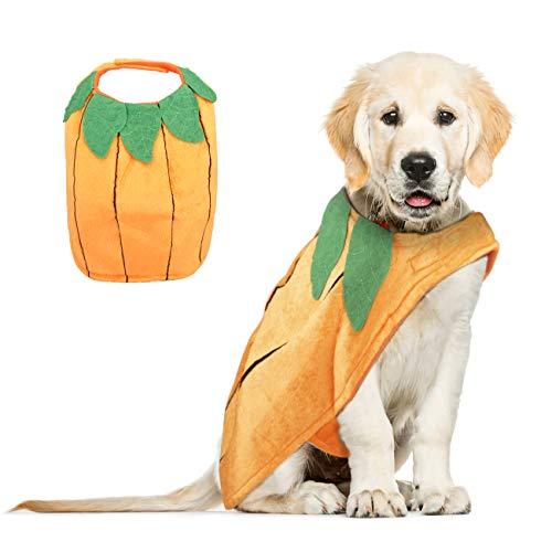 Kostüm Große Kürbis - VIKEDI Halloween Kostüm Hund, Halloween Kürbis Kostüme für Hunde, Haustier Hunde Halloween Kostüm,Einstellbare Haustier Hund Kleidung Halloween Party Cosplay Dekoration für mittlere und große Hunde
