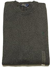 Ralph Lauren Polo Pull en coton cashlike Gris foncé