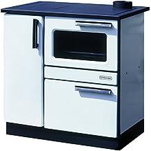 Estufa de cocina de leña para horno 9/15 kW PLAMAK esmalte blanco