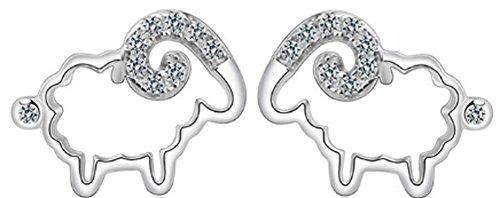 SaySure - Cubic Zircon CZ Crystal Stud Earring Beautiful Sheep