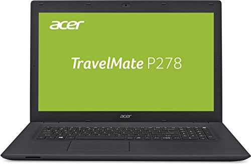 Acer TravelMate P278 (P278-M-32AW) 43,9 cm (17,3 Zoll Full-HD matt) Office Notebook (Intel Core i3-6006, 8GB RAM, 128GB SSD + 1.000GB HDD, Intel HD, Win 10 Pro) schwarz
