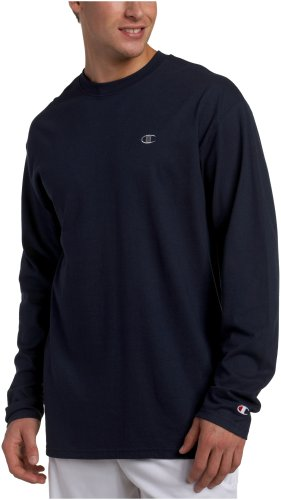 champion-t-shirt-de-sport-pour-homme-a-manches-longues-bleu-marine-xxl