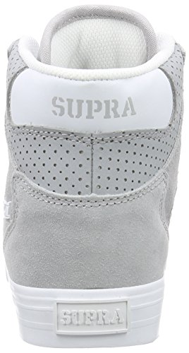 Supra  VAIDER, Baskets hautes mixte adulte Gris (Light Grey/White)