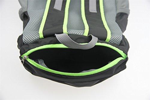 Sport all' aperto Borsa Borsa equitazione alpinismo zaino Zaino e equitazione pacchetto fibbia corda e garza design.Dimensioni: 43*29*26cm., Uomo, Green Black