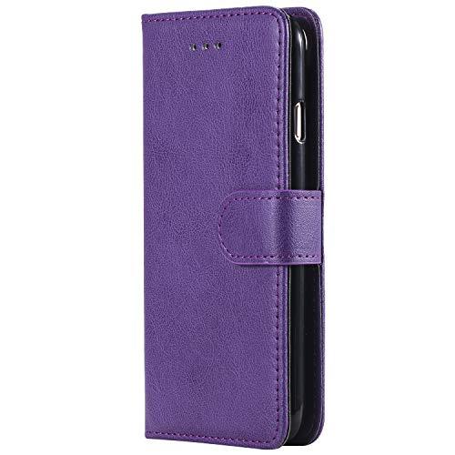 Cozy Hut iPhone 6 / iPhone 6s Hülle, 2in1 Geldbörse Style abnehmbare Ledertasche mit Handschlaufe,Magnetverschluss,Kartenfach, Flip case im Buchstil für iPhone 6 / iPhone 6s - Premium Lila -