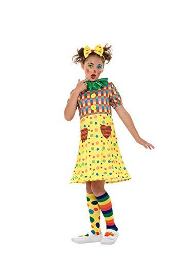 SMIFFY 'S 49821s Clown Kostüm, Mädchen, Mehrfarbig, klein, UK 4-6