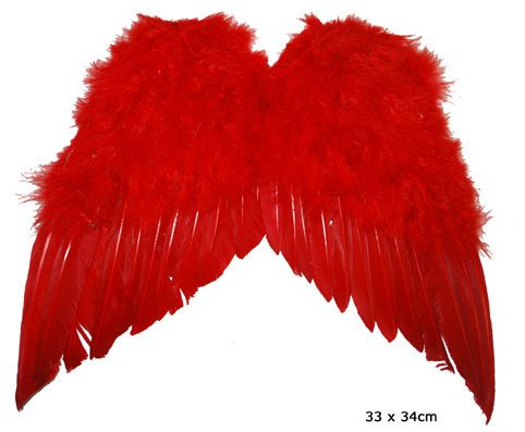 Kleine Federflügel in rot