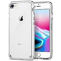 Spigen Ultra Hybrid 2 iPhone 8/7 Hülle (042CS20927) Einteilige Handyhülle Durchsichtige PC Rückschale Silikon Bumper Schutzhülle Case (Crystal Clear)