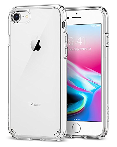 Spigen® [Ultra Hybrid 2 Kompatibel mit iPhone 8/7 Hülle, Einteilige Transparent Schutzhülle für iPhone 7 iPhone 8 Case Crystal Clear (042CS20927)