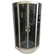 DUCHA CABINA DE HIDROMASAJE 90 x 90 cm SPA RADIO JACUZZI CROMOTERAPIA New York Nueva garantía 2 años entrega rápida!