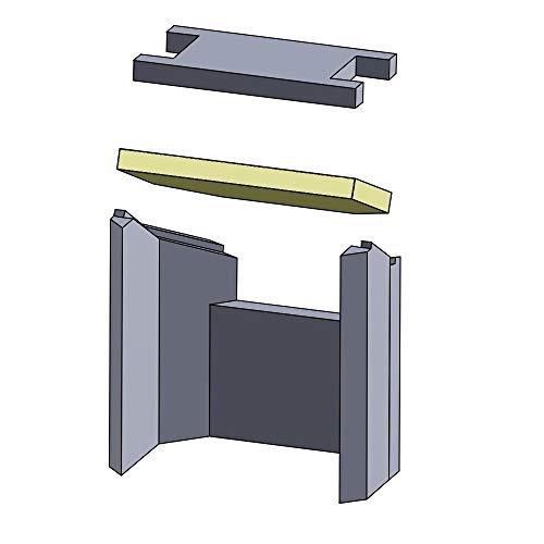 Flamado Heizgasumlenkplatte unten 360x244x30mm (Schamotte)