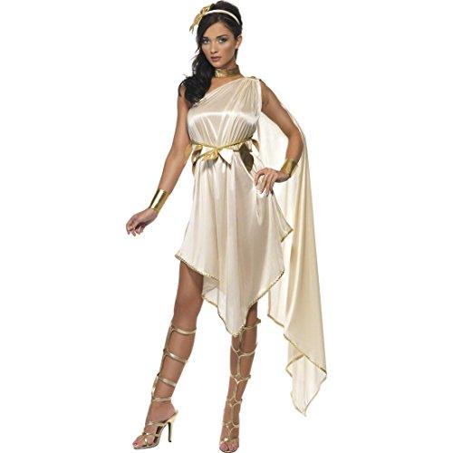 NET TOYS Griechische Göttin Kostüm Antike Verkleidung S 36/38 Kleid Römerin Tunika Damenkleid Damenkostüm sexy