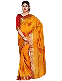 [Sponsored]Mimosa By Kupinda Women's Art Silk Saree Kanchipuram Style (Latest Designer Sarees/Party Wear Sarees/New Collection...