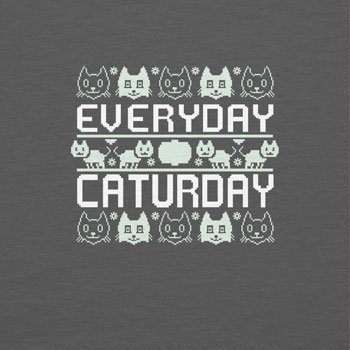 Texlab Everyday Caturday - Damen T-Shirt Grau