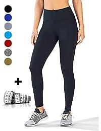 dh Garment Legging de Sport Femme Taille Haute avec Poche Pantalon  Amincissant pour Yoga Gym Fitness fc52fb29035