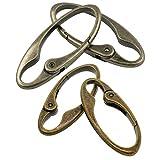 B Baosity 4 Stück Vintage Oval Retro Frühling Karabinerhaken Clip Key für Handtasche