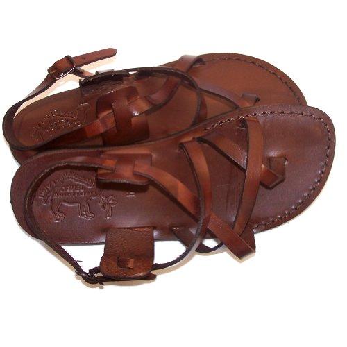 Holy Land Market Camel Herren -Sandalen aus Echtleder Braun